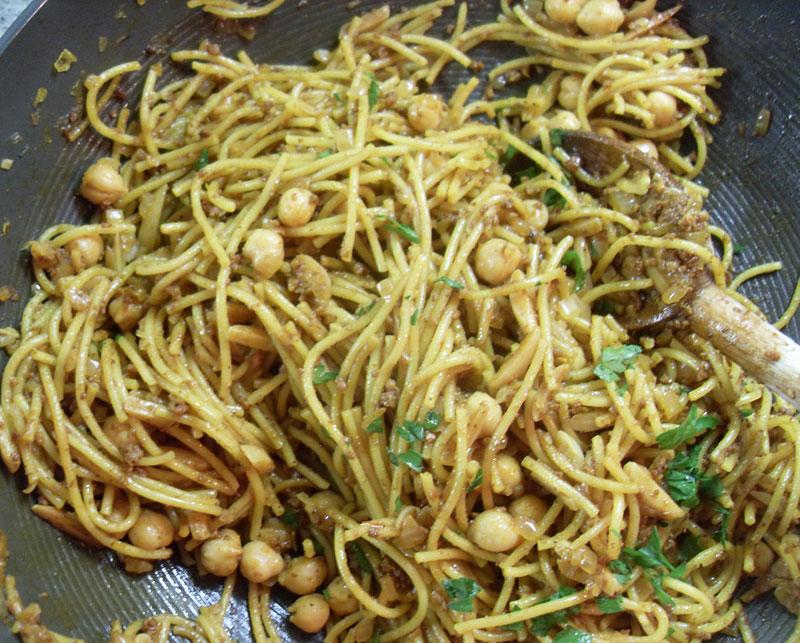 Spaghetti With Chorizo And Almonds Recipes — Dishmaps