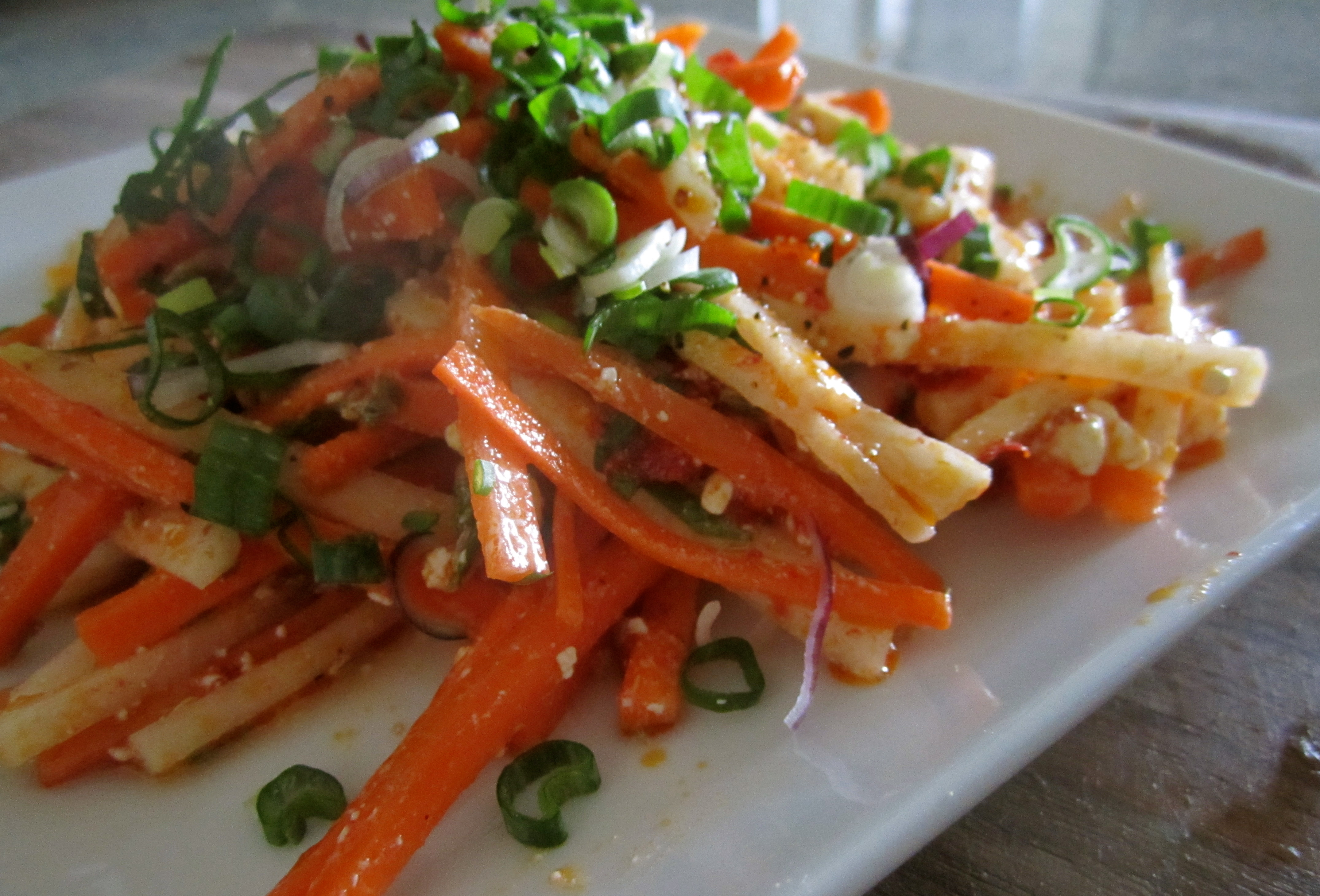 feta and mint carrot salad with harissa feta and mint salad recipe for ...