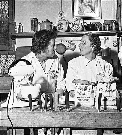 "My all-time favorite photo of Julia Child and Simone Beck, from ""My Life in France"""