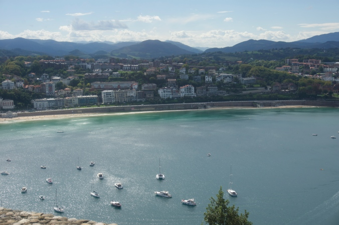 Looking down on beautiful San Sebastian